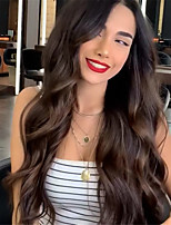 cheap -Synthetic Wig Body Wave Middle Part Wig Long Very Long Light golden Synthetic Hair 65 inch Women's Party Highlighted / Balayage Hair Middle Part Blonde