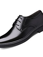 cheap -Men's Spring / Fall Business / British Daily Oxfords Cowhide Non-slipping Height-increasing Wear Proof Black