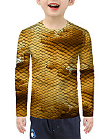 cheap -Kids Boys' Active 3D Long Sleeve Tee Yellow