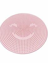 cheap -lazy silicone bath massage cushion shower foot scubber brush anti-slip clean dead skin bathroom spa beauty salon care cushion-1 pack (pink)