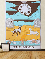 cheap -Tarot Divination Wall Tapestry Art Decor Blanket Curtain Picnic Tablecloth Hanging Home Bedroom Living Room Dorm Decoration Mysterious Bohemian Moon Dog