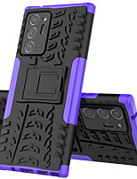 cheap -Case For Samsung Galaxy A80 A70S A70 Shockproof with Stand Back Cover Solid Colored TPU PC Case For Galaxy A60 A50S A50 A40S A40 A30S A30 A20e A20 A10e A10 A8S A2 Core M40 M30 M20 M10