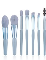 cheap -7 Pcs Makeup Brush Set Mini Portable Makeup Brush Set Loose Powder Brush Eye Shadow Brush Lip Brush