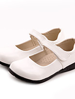cheap -Boys' / Girls' Flats First Walkers / Flower Girl Shoes / Children's Day Patent Leather / PU Lace up Little Kids(4-7ys) / Big Kids(7years +) Walking Shoes Split Joint White / Black Spring / Fall