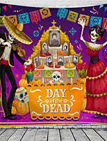 cheap -Day of Dead Mexico Holiday Party Wall Tapestry Art Decor Blanket Curtain Picnic Tablecloth Hanging Home Bedroom Living Room Dorm Decoration commemoration day Polyester