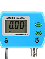 cheap -Mini Professional 2 in 1 Water Quality Tester Monitor Online pH / EC-EU PLUG
