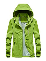 cheap -Women's Windbreaker Hiking Jacket Outdoor Thermal Warm Waterproof Windproof Breathable Jacket Top Camping / Hiking Outdoor Violet / Fuchsia / Green / Dark Blue