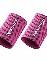 cheap -cooling wristbands, fitness sports sweat absorbent polyester wristband breathable ice sweatband for adults men women yoga tennis basketball cycling running gym (2 pcs) (rose red, s)