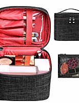 cheap -makeup bag travel large cosmetic bag case organizer pouch with mesh bag brush holder make up toiletry bags for women