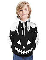 cheap -Kids Boys' Basic Cat 3D Long Sleeve Hoodie & Sweatshirt Black