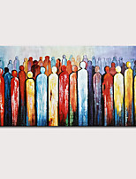 cheap -Oil Painting Hand Painted - Abstract People Modern Rolled Canvas (No Frame)