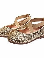 cheap -little girls shiny sequins dance ballet flats slip on princess dress shoes golden size 28