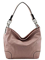 "cheap -vegan faux leather bucket shoulder handbag classic purse""medium-large"" (d.pink)"