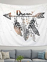 cheap -arrow tapestry vintage feather dream tribal aztec style boho decor art bohemian tapestry wall hanging bedroom dorm living room blanket decoration & #40;m:130x150cm/51 x59& #41;