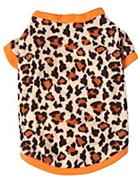 cheap -pet dog warm fleece sweater puppy leopard print hoodies coat clothes apparel