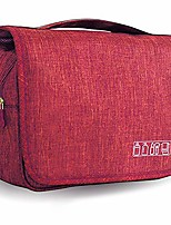 cheap -hanging travel toiletry bag organizer cosmetic bag, portable makeup bag for women & men with strong hook & pockets shaving kit bag,waterproof toiletries storage bag for bathroom (red)