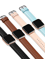 cheap -Soft Leather Watch Band for Apple Watch Series 6 SE 5 4 3 2 1  Replaceable Bracelet Wrist Strap Wristband 38mm 40mm 42mm 44mm