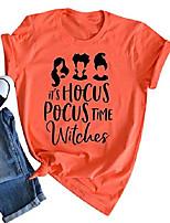 cheap -Women's Halloween T-shirt Tops Basic Halloween Basic Top Orange-A Orange-B Orange-C