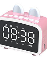 cheap -Q8 Bluetooth 5.0 Wireless Speaker LCD Mirror Screen Clock FM Radio Handsfree Call Column With Microphone Stereo Subwoofer