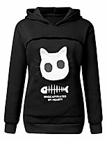 cheap -pet hoodies,〓feisi22〓 womens cat dog kangaroo pouch carriers pullover little pet dog cat carrier sweatshirts tee black