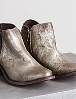cheap -Women's Boots Wedge Heel Round Toe Classic Daily Solid Colored PU Booties / Ankle Boots Army Green / Silver / Brown