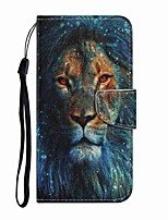 cheap -Case For Samsung Galaxy Note 20 Ultra Galax S20 Ultra Wallet Card Holder with Stand Full Body Cases Lion PU Leather TPU for Samsung Galax A71 Note 20 A21S A51 A70 A30 A50 A20S S20