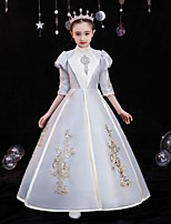 cheap -Princess Shakespeare Rococo Gothic Vintage Inspired Medieval Vacation Dress Dress Party Costume Masquerade Women's Costume Champagne Vintage Cosplay Party Masquerade Wedding Party 3/4-Length Sleeve