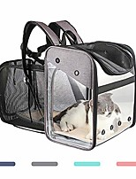 cheap -deluxe pet carrier backpack for small cats and dogs, puppies, ventilated mesh,designed for travel, hiking, walking & outdoor use (gray)