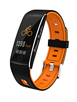 cheap -F10 Smart Bracelet 2020 Tempered Color Screen Smart Bracelet Watch Two-color Strap Waterproof Smart Sports Bracelet