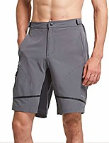 cheap -men's hiking shorts lightweight quick dry upf 50+ cycling shorts for mtb, camping, travel gray size xxl