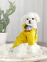 cheap -Dog Rain Coat Solid Colored Casual / Sporty Fashion Casual / Daily Outdoor Winter Dog Clothes Breathable Yellow Blue Pink Costume Waterproof Material S M L XL XXL XXXL