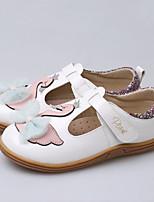 cheap -Girls' Flats Comfort PU / Synthetics Little Kids(4-7ys) Walking Shoes Bowknot / Flower / Split Joint White / Pink Fall / Winter