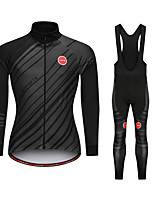 cheap -Men's Women's Long Sleeve Cycling Jersey with Tights Black Bike Sports Mountain Bike MTB Road Bike Cycling Clothing Apparel