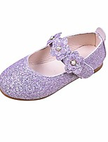 cheap -kid girls sandals solid flower bling student single dance princess shoes