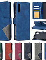 cheap -Case For Sony Xperia L4 Card Holder Flip  Magnetic Full Body Cases Solid Colored PU Leather