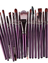 cheap -creazy 20 pcs makeup brush set tools make-up toiletry kit wool make up brush set & #40;purple& #41;