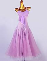 cheap -Ballroom Dance Dress Cascading Ruffles Split Joint Women's Training Sleeveless Chinlon Chiffon Organza