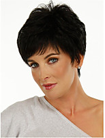 cheap -Synthetic Wig Curly Pixie Cut Wig Short Natural Black Synthetic Hair Women's Fashionable Design Classic Fluffy Black