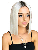 cheap -Synthetic Wig Straight kinky Straight Middle Part Wig Short White Synthetic Hair Women's Fashionable Design Easy to Carry Cool White