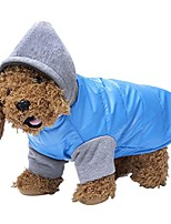 cheap -puppy hoodie jacket winter warm fleece lining pet coat soft thick cotton blend waterproof windproof dog sweater pet hooded clothes vest snowsuit outwear jumpsuit christmas costume apparel