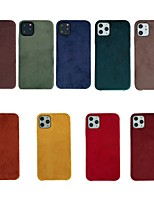 cheap -Case For Apple iPhone 7 8 7plus 8plus X XR XS XSMax SE(2020) iPhone 11 11Pro 11ProMax Shockproof Ultra-thin Pattern Back Cover Solid Colored Textile TPU