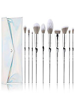 cheap -makeup brushes - 10pcs makeup brushes for foundation powder contour blend blush highlight eye shadows,kabuki brush with pu leather bag silver t261 bag