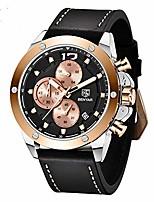 cheap -benyar mens watches sports quartz chronograph date waterproof watches men business leather strap wrist watch