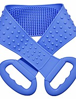 cheap -silicone back scrubber for shower - body brush for bathing - for back cleansing and exfoliating, back massage, all parts of the body to remove ash and mud & #40;blue& #41;