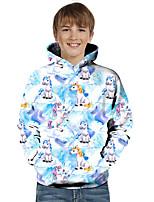 cheap -Kids Toddler Boys' Active Basic Fantastic Beasts Color Block 3D Animal Print Long Sleeve Hoodie & Sweatshirt Blue