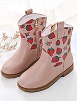 cheap -Girls' Boots Combat Boots Microfiber Little Kids(4-7ys) / Big Kids(7years +) Walking Shoes Almond / Pink Fall / Winter / Mid-Calf Boots