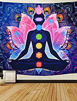 """cheap -seven chakra tapestry yoga meditation wall tapestry colorful mandala tapestry indian hippie chakra tapestry wall hanging for studio room & #40;h51.2""""× w59.1""""& #41;"""