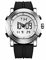 cheap -sinobi digital watch big case men women sport watches luminous dual time display hour black rubber strap litbwat