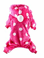 cheap -pet dog clothes soft plush winter warm pajamas coat jumpsuit winter dog hoodie sweatshirts for small dogs puppy cat custume (xl, hot pink)