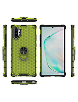 cheap -Case For  Galaxy A71 70 50 30 20S 11 10/Note 20 PusShockproof / Ring Holder Back Cover Solid Colored / Geometric Pattern Acrylic
